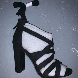 Torrid Black calf tie Heels